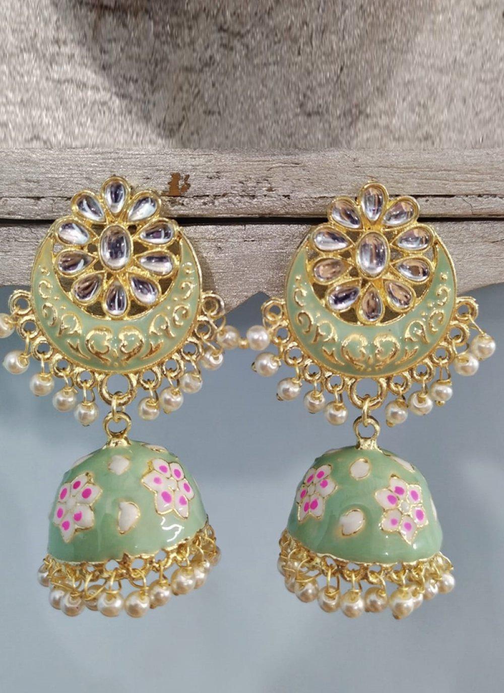 Green Color Ear Rings