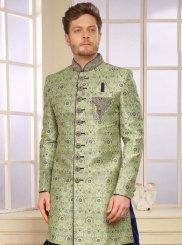 Green Color Indo Western Sherwani