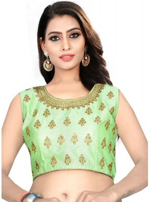 Green Color Readymade Designer Blouse