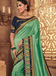 Green Color Traditional Designer Saree