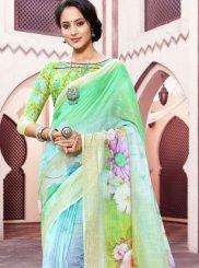 Green Color Trendy Saree