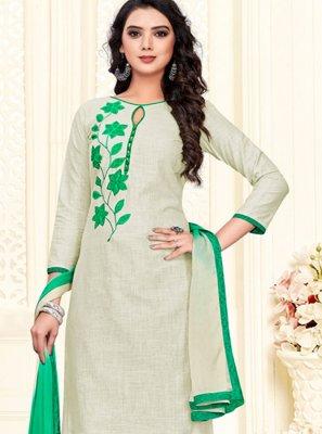 Green Cotton Churidar Suit