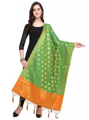 Green Designer Dupatta