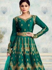 Green Desinger Anarkali Salwar Kameez