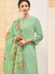 Green Digital Print Ceremonial Designer Salwar Kameez