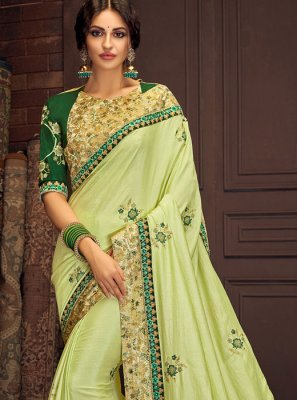 Green Digital Print Traditional Saree