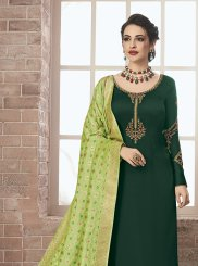 Green Embroidered Ceremonial Designer Pakistani Suit