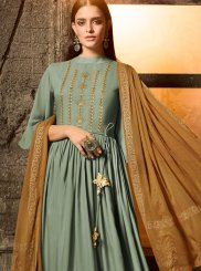 Green Embroidered Designer Salwar Suit