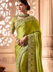 Green Embroidered Designer Traditional Saree