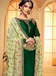 Green Embroidered Festival Designer Salwar Suit