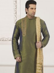 Green Embroidered Festival Kurta Pyjama