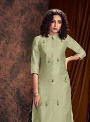 Green Embroidered Readymade Salwar Kameez