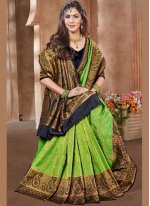 Green Embroidered Sangeet Designer Traditional Saree