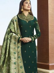 Green Embroidered Sangeet Salwar Suit