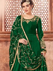 Green Embroidered Wedding Floor Length Anarkali Suit