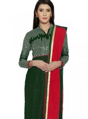 Green Embroidered Work Churidar Designer Suit