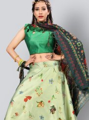 Green Fancy Art Silk Lehenga Choli