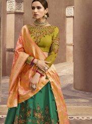 Green Fancy Fabric Designer Lehenga Choli