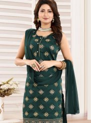 Green Fancy Festival Churidar Designer Suit
