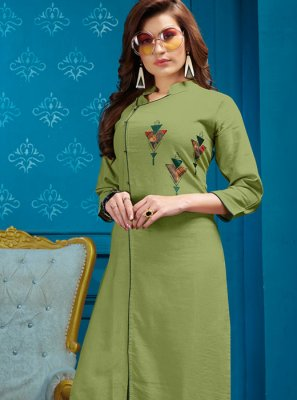 Green Fancy Festival Party Wear Kurti