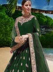 Green Festival Anarkali Salwar Suit