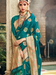 Green Festival Art Silk Traditional Designer Saree