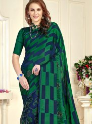 Green Festival Brasso Trendy Saree