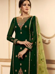 Green Festival Churidar Designer Suit