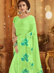 Green Festival Cotton Casual Saree