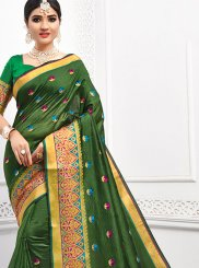 Green Festival Cotton Classic Saree
