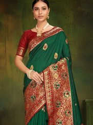 Green Festival Designer Traditional Saree