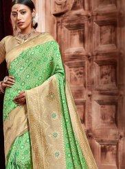 Green Festival Designer Traditional Saree
