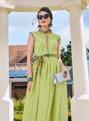 Green Festival Readymade Gown