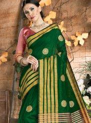 Green Festival Saree