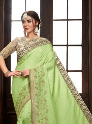 Green Festival Traditional Designer Saree
