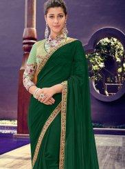 Green Festival Trendy Saree