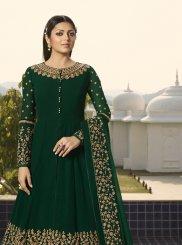 Green Georgette Embroidered Designer Salwar Kameez