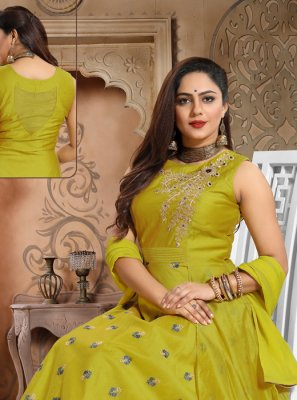 Green Handwork Party Anarkali Salwar Kameez