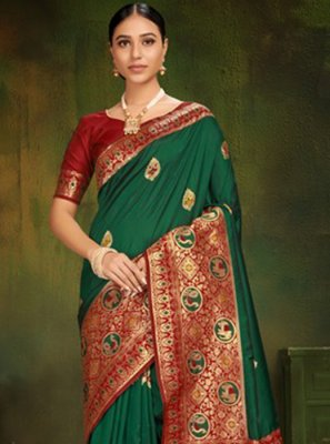 Green Machine Embroidery  Classic Designer Saree