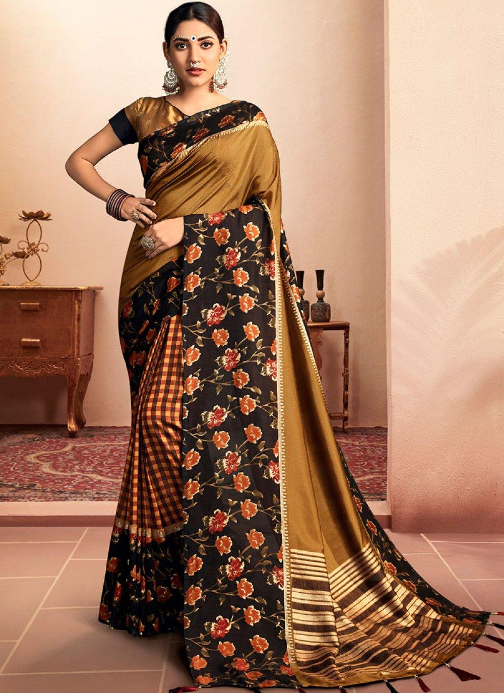 Green Mehndi Chanderi Classic Designer Saree