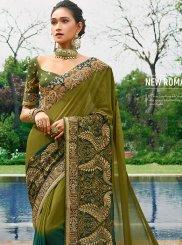 Green Mehndi Classic Saree