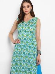 Green Mehndi Designer Kurti