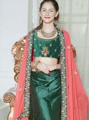 Green Mehndi Fancy Fabric Lehenga Choli