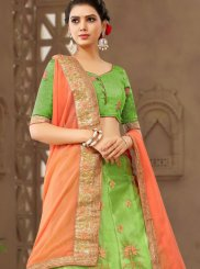 Green Net Trendy Lehenga Choli