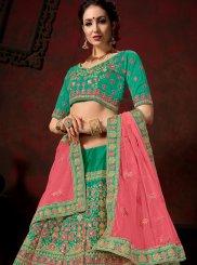 Green Nylon Designer Lehenga Choli