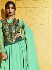 Green Party Anarkali Salwar Suit