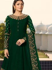 Green Party Designer Floor Length Suit