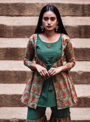 Green Party Party Wear Kurti