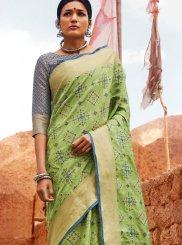 Green Patola Silk  Designer Saree