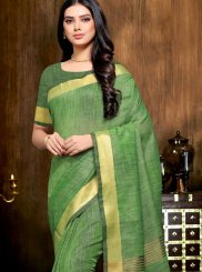 Green Print Festival Saree